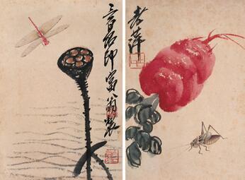 齐白石经典虫草作品(105张)高清全集