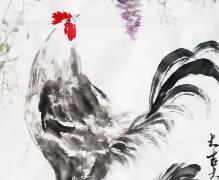 合家欢系列 吴马画鸡作品三