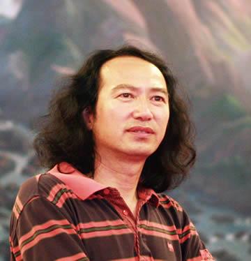 大吉合欢——中国当代著名画家吴马画鸡作品欣赏