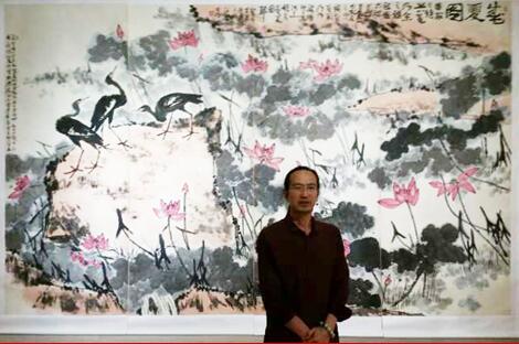 李苦禅先生作品展在中国园林博物馆开幕